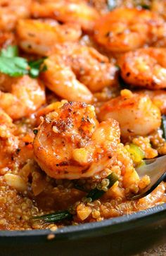 Spicy seafood dinner that's easily made in about 30 minutes. Spicy Cajun shrimp over tasty quinoa cooked in citrus Cajun broth.