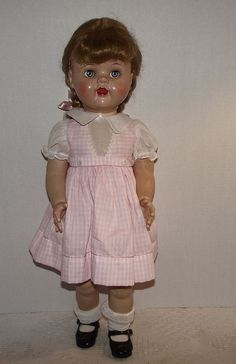 "Vintage Ideal ""Saucy Walker Doll"" In Original Dress  , 22' Tall, Circa 1952~~"