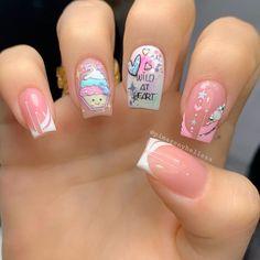 Beautiful Nail Art, Gorgeous Nails, Hello Nails, Sassy Nails, Cute Beauty, Short Nails, Nail Arts, Nail Colors, Nail Art Designs