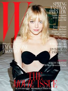 Emma Stone by Juergen Teller for W Magazine February 2013