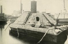 Confederate ironclad, CSS Albemarle before her big battle to clear the Roanoke River in North Carolina in 1864. She was ultimately sunk by a union picket boat in a daring night attack in Oct 1864.