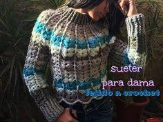 Sueter para Dama Tejido a Crochet - YouTube