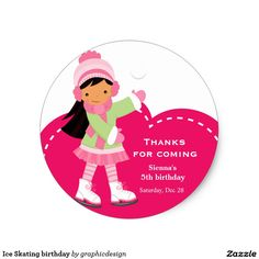 Sold #IceSkating #birthday #Sticker #kids #girly #skate Available in different products. Check more at www.zazzle.com/graphicdesign