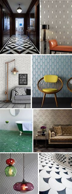 papier peint graphique color et buffet en bois de style. Black Bedroom Furniture Sets. Home Design Ideas