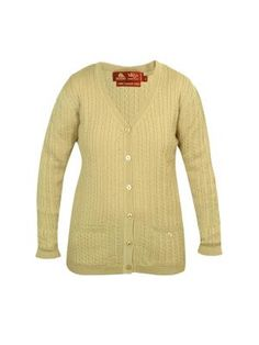Fine Cable Pure Wool Cardigan.