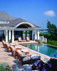 What a great residential pool area. Vacation home for the or I should say your girls babe ;)