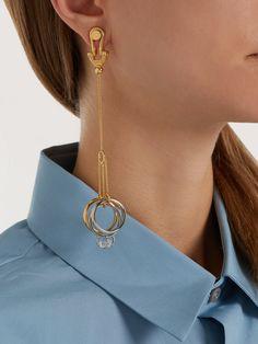 Crystal-embellished ring-drop earrings | Jil Sander | MATCHESFASHION.COM