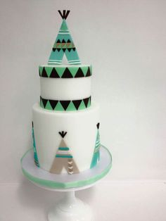 Teepee themed cake