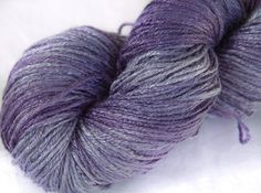 Organic 100 % bamboo yarn Thoughts hand dyed vegan by Klarabela