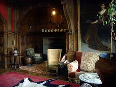 Kinloch Castle, the great hall fire alcove. photo: Howard Selina