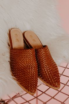 Runs small - size up size Man-made upper leather Leather wrap heel Genuine leather insole Padded foot-bed Leather trim on the rubber sole Color is brown Heel Loafer Mules, Mules Shoes, Heeled Mules, Fall Shoes, Summer Shoes, Spring Shoes, Wrap Heels, Driving Shoes, Kinds Of Shoes