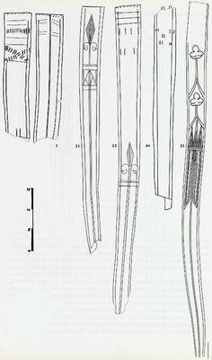 Veertiende-eeuwse lederen zwaardscheden | Militair Magazijn | Armamentaria