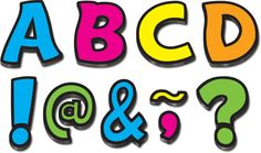 "Neon Brights Funtastic Font 3"" Magnetic Letters Image"