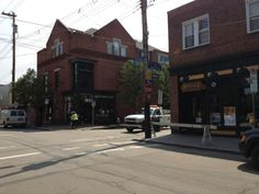 This is location where Pittsburgh's first 2 on-street bike corrals will be placed! Courtesy of @billpeduto #onlyinpgh