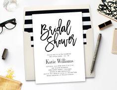 Printable Bridal Shower Invitation with Bonus Envelope Liner by @berryberrysweet