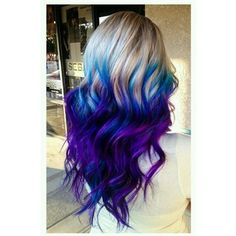 Icy Blonde with Mermaid Ends Hair Colors Ideas ❤ liked on Polyvore featuring beauty products and haircare