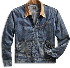 b4bd349ee5b Ralph Lauren Corduroy-Collar Denim Jacket Japanese Cotton