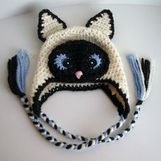 This little Siamese Cat Hatbrings a smile to my face! Pattern can be boughthereon Craftsy.