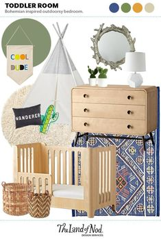 Boho Toddler Room |