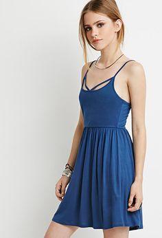 Crisscross Cami Babydoll Dress | Forever 21 - 2000154261