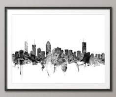 Montreal Skyline Montreal Canada Cityscape Art Print by artPause