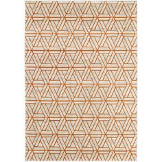Ginsberg Burnt Orange Dark Brown Area Rug With Images Orange