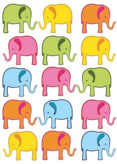 elephants. would love this on a yoga mat.