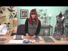 804-2 Amber Eden sews with sequined fabric on It's Sew Easy - YouTube