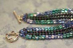 Basics: Herringbone Ribbon Bracelet Pattern at Sova-Enterprises.com