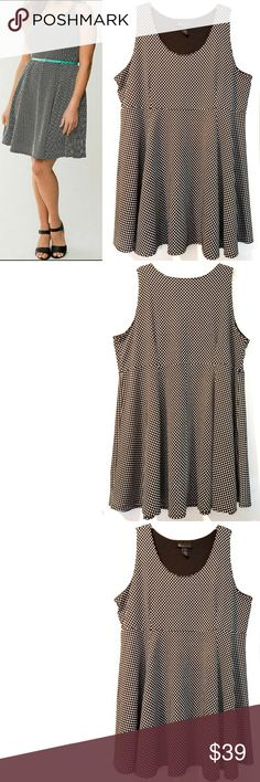 232eeb7be7f 28 Lane Bryant Polkadot Fit   Flare Skater Dress This plus size 28 Lane  Bryant Polkadot