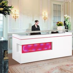 Excellent quality modern design melamine hotel reception table design