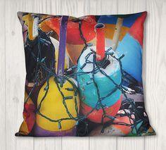 Nautical Buoys Pillow Cover - Coastal Decor - x Nautical Pillows, Coastal Decor, Pillow Covers, Cotton Fabric, Throw Pillows, Prints, Color, Etsy, Collection