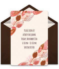 Online Invitations From  Fall Party Invitations