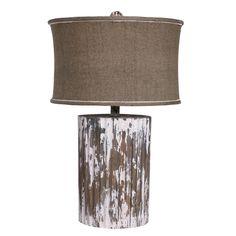 *Rustic Wood Cylinder Lamp | BelleEscape.com
