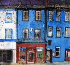 Peter Quinn - Banks and Son Cockermouth is available for sale at Castlegate House Gallery. Kids Art Class, Glasgow School Of Art, Collage Art Mixed Media, Building Art, Urban Sketching, Inspiration For Kids, Paintings For Sale, Architecture Art, Home Art