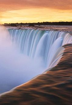Niagara Falls, between New York and Ontario, Canada: Possibly the most famous waterfall in the world,