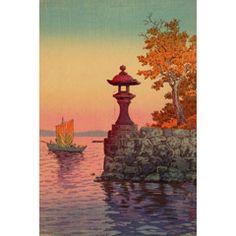 土屋光逸 (風光礼讃) - 矢橋の帰船帆 (1933)