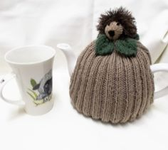 Knitted Hedgehog Tea Cosy Hand Knit Tea Cozy Hand made wool items Hand-knit gifts Tea Pot Cover Tea drinkers gift Home made Cosies Tea Lover's animal lover tea pot cozy Grandma's gift kannenwärmer Teapot covers teacosies Knitted items kitchen accessories house warming herrison home decorations best seller items 15.00 GBP #goriani
