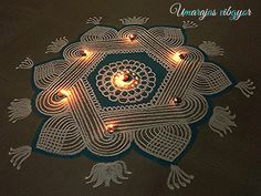 Rangoli Designs by Uma Raja Rangoli Designs Simple Diwali, Rangoli Designs Latest, Rangoli Designs Flower, Rangoli Ideas, Rangoli Designs Diwali, Rangoli Designs With Dots, Rangoli Designs Images, Kolam Rangoli, Beautiful Rangoli Designs