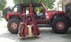 Jeep Wrangler JKU Door Holder/ Storage Cart in eBay Motors, Parts & Accessories, Car & Truck Parts | eBay