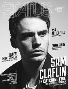 STATUS Magazine feat. Sam Claflin  STATUS caught in the act. November 2013