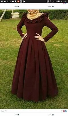 Street Hijab Fashion, Abaya Fashion, Fashion Dresses, Hijab Dress Party, Best Gowns, Modele Hijab, Muslim Women Fashion, Hijab Fashionista, Cap Dress