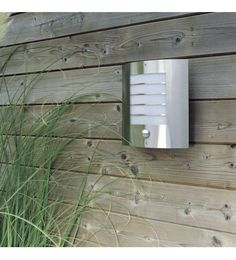 Massive Oslo Outdoor Stainless Steel Wall Light With P.I.R. - Massive from Castlegate Lights UK