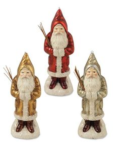 Shelley B Home and Holiday - Vintage Glass Belsnickel Santa Christmas Ornaments s3, $65.99 (http://shelleybhomeandholiday.com/vintage-glass-belsnickel-santa-christmas-ornaments-s3/)