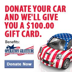 Another way to support the troops! $100.00 FOR A CAR? Yea sounds like Rethuglican logic. Maybe you could half fill the tank with that money!!