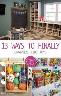 13 Ways to Finally Organize Kids Toys Playroom Organization Finally Kids Organize Toys Ways Diy Kids Room, Diy For Kids, Kids Rooms, Kids Playroom Ideas Toddlers, Children Playroom, Kid Playroom, Art Rooms, Daycare Ideas, Toy Room Organization