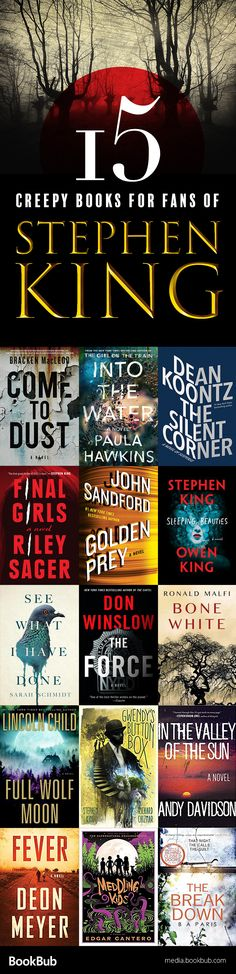 15 creepy and suspenseful books to read summer 2017. If you love Stephen King, these books are worth a read!