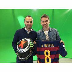 Con el campeón!!! Grande @jorgelorenzo99!! Gracias por el regalo.