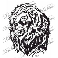 Marketplace Tattoo Tribal African Lion #2951 | CreateMyTattoo.com