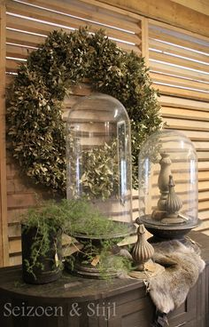 A House Romance: Netherlands French Country Decorating, Decor, Rustic Chic, Christmas Decorations Rustic, Home Decor, Rustic Christmas, Cloche Domes, Home Deco, Deco